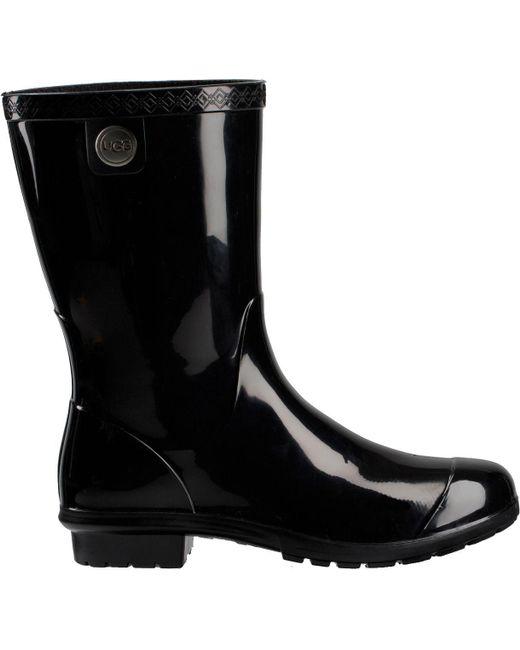 Ugg - Black Sienna Rain Boots - Lyst ...