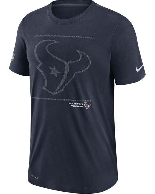 Nike Blue Houston Texans Sideline Team Issue Navy Performance T-shirt for men