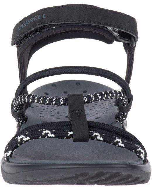 8ecc52699420 ... Merrell - Black Sunstone Strap Sandals - Lyst ...