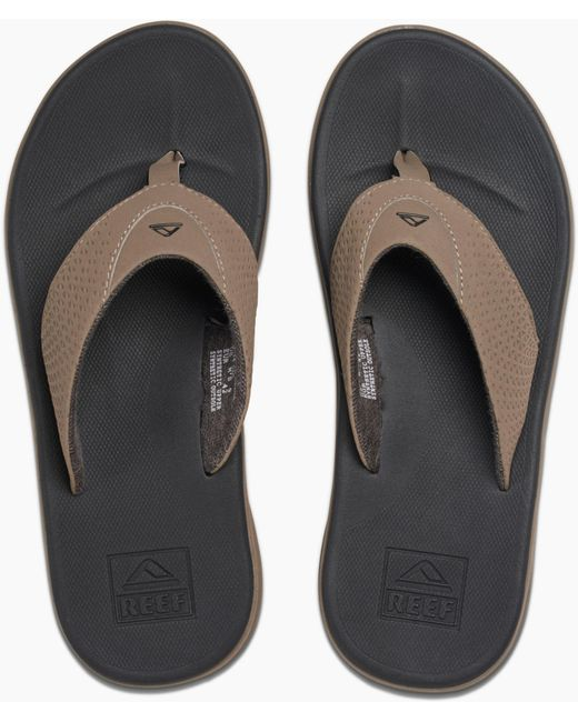 893a8a498abf ... Reef - Black Rover Flip Flops for Men - Lyst ...