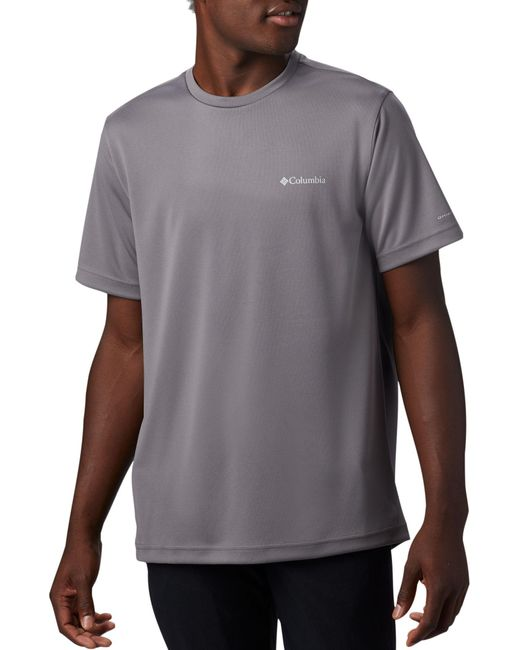 Columbia Gray Mist Trail Short Sleeve T-shirt for men
