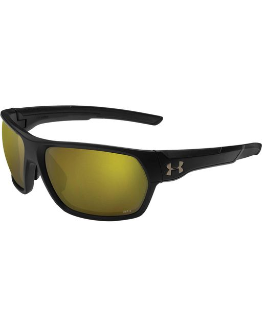 72f79b04c31 Under Armour - Black Shock Fishing Tuned Shoreline Polarized Sunglasses for  Men - Lyst ...