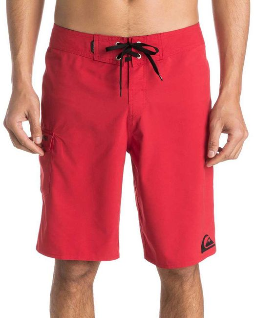 """Quiksilver Red Everyday 21"""" Board Shorts for men"""