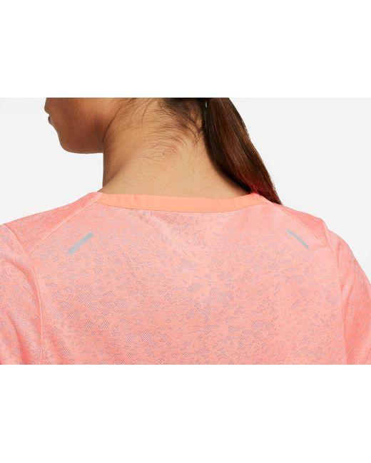 Nike Multicolor Run Division Rise 365 Short Sleeve T-shirt for men