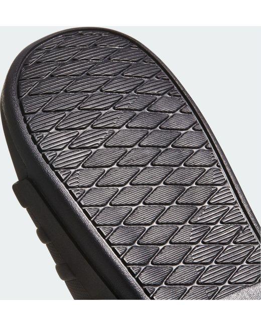 f05efc0a0563 ... Adidas - Black Adilette Cloudfoam Plus Mono Slides for Men - Lyst
