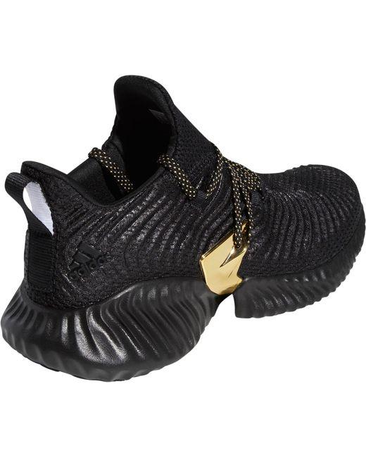 Men's Black Alphabounce Instinct Three Stripe Life Running Shoes