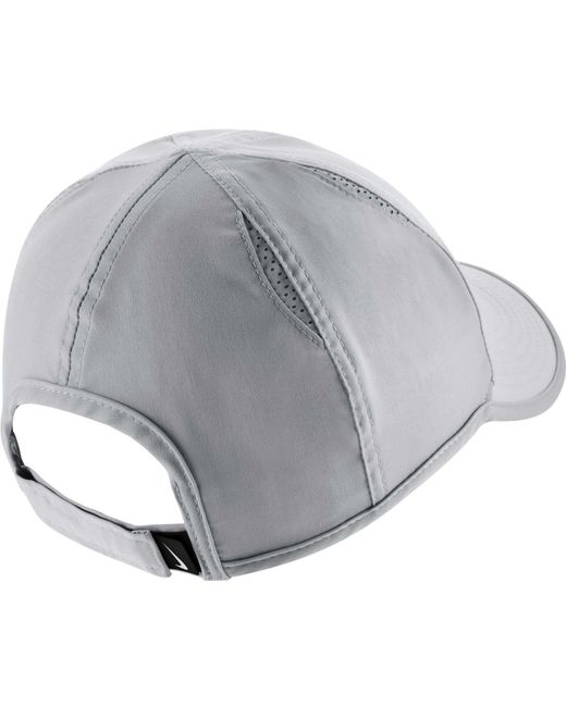 ... Nike - Gray Feather Light Adjustable Hat - Lyst ... 3d1d9e74409