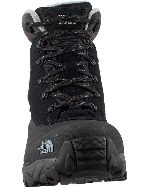 The North Face Leather Chilkat Iii 200g Waterproof Winter Boots In Black For Men Save 50 Lyst