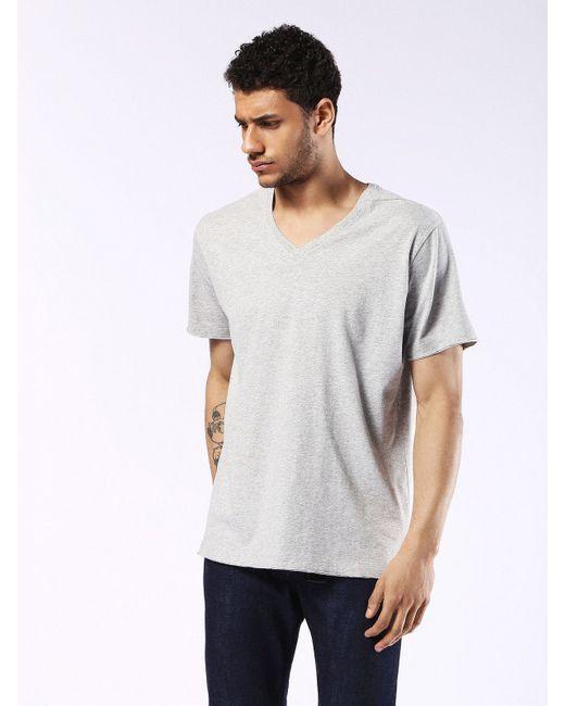 DIESEL | Gray Tshirt Tlancer Denim Fingers Print for Men | Lyst