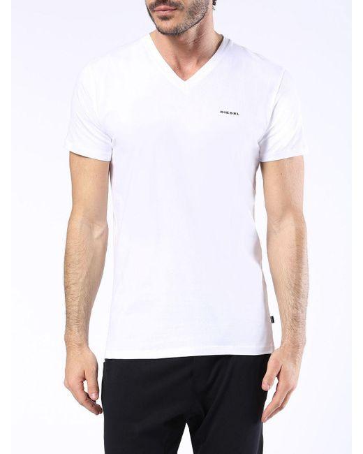 DIESEL | White Umtee-michael2pack for Men | Lyst