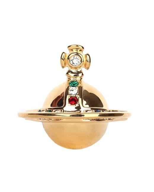 Vivienne Westwood Metallic Solid Orb Ring