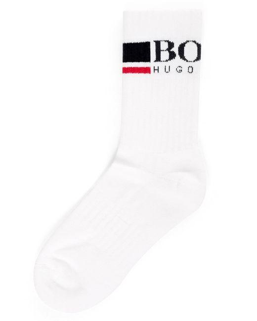 BOSS - Men's Regular Length Stretch Cotton Socks White for Men - Lyst