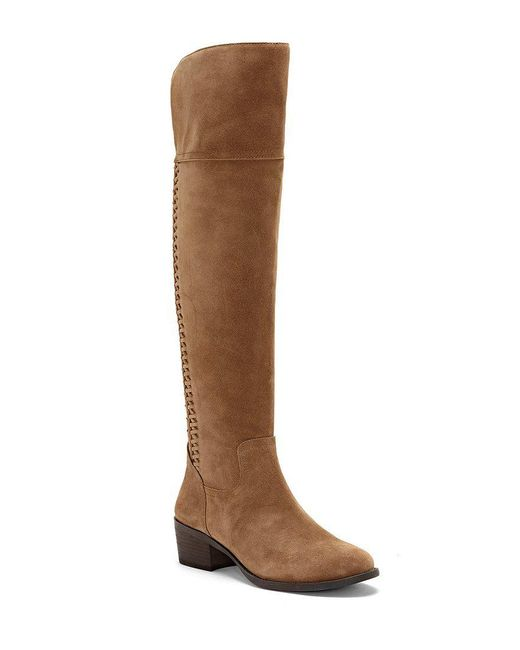 Vince Camuto | Brown Brilley Suede Over The Knee Boots | Lyst
