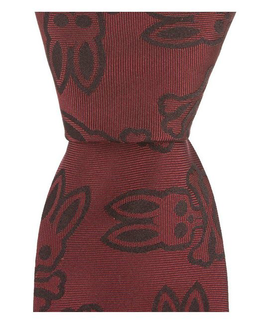 """Psycho Bunny - Red Large Bunny Traditional 3.25"""" Silk Tie for Men - Lyst"""