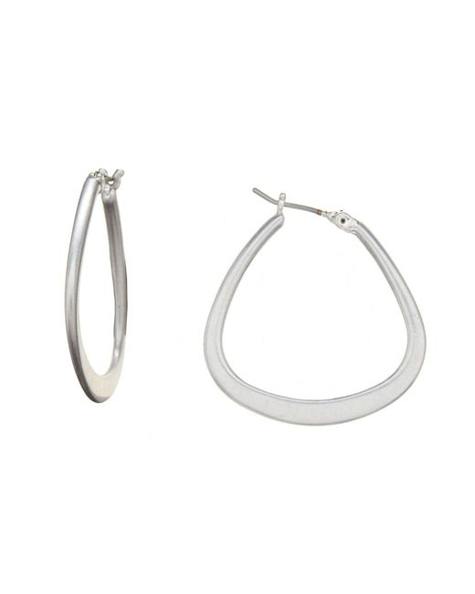 Kenneth Cole - Metallic Hoop Earrings - Lyst