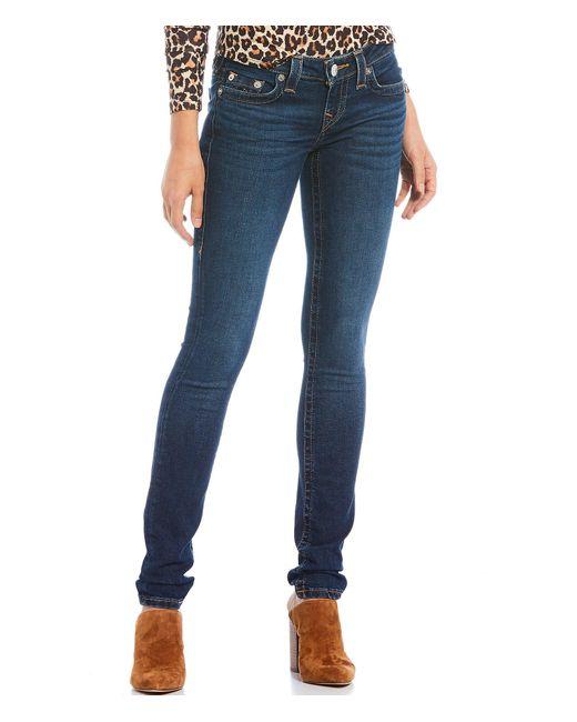 True Religion Blue Stella Low Rise Skinny Jeans