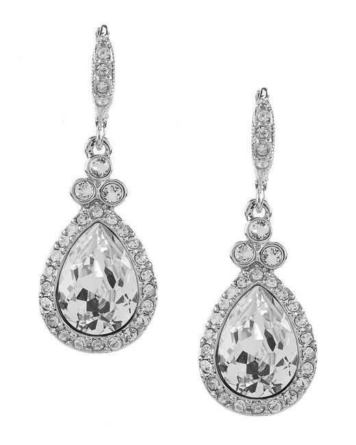 Givenchy - Metallic Crystal Pavé Pear Drop Earrings - Lyst