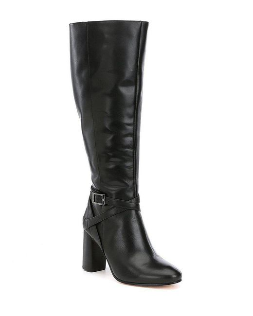 Antonio Melani   Black Pratts Wide Calf Harness Boots   Lyst