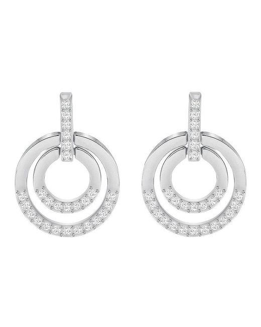 Swarovski | Metallic Circle Drop Earrings | Lyst