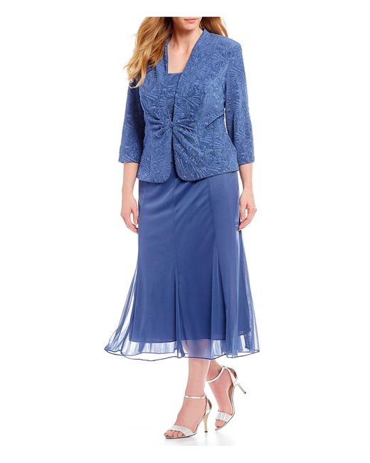 Alex Evenings - Blue Plus Size A-line Jacket Dress - Lyst