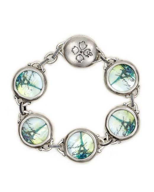 Patricia Nash Multicolor The Paris Charm With Floret Magnet Bracelet