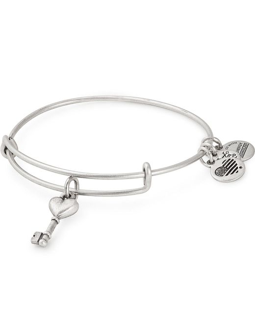 ALEX AND ANI - Metallic Key To Love Bangle Bracelet - Lyst
