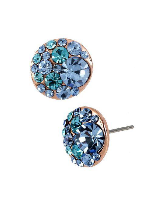 Betsey Johnson | Metallic Crystal Stud Earrings | Lyst