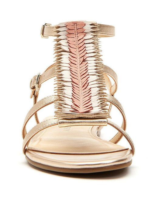 Katy Perry The Alanna Feather Leather Detail Sandals mEYcQS