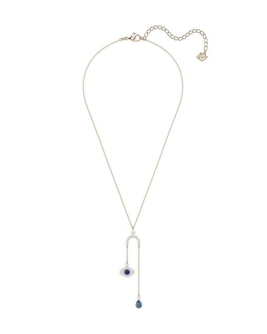 3123205343982 Women's Metallic Duo Evil Eye Y-necklace Pendant