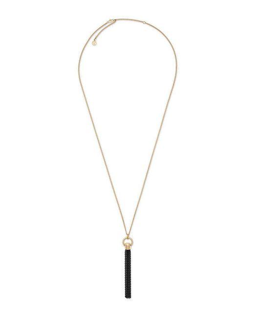 Michael Kors   Metallic Cool & Classic Chain-tasseled Pendant Necklace   Lyst