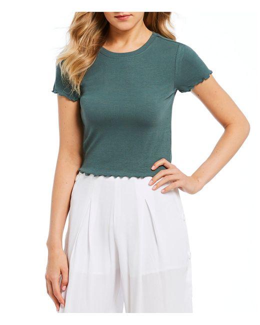 June & Hudson - Blue Short-sleeve Knit Top - Lyst