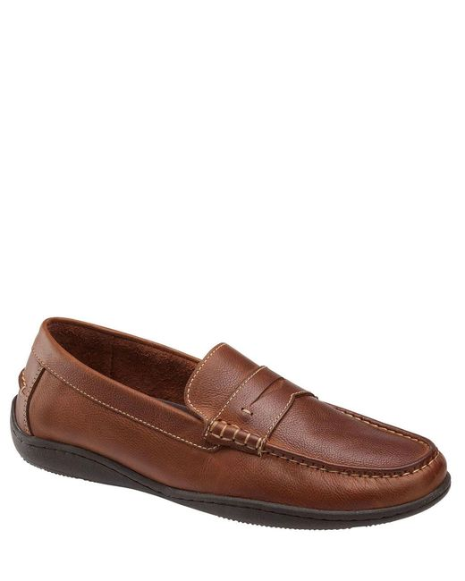 Johnston & Murphy Brown Johnston Murphy Men's Fowler Leather Penny Loafer for men