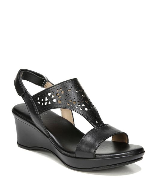 Naturalizer - Black Veda Wedge Sandals - Lyst