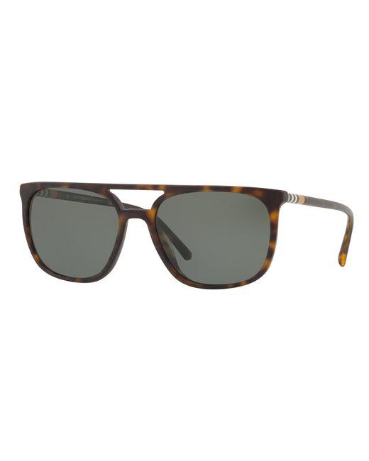 b141d18ca3c Burberry - Multicolor Polarized Brow-bar Square Sunglasses for Men - Lyst  ...