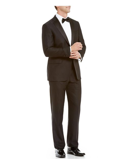 Hart Schaffner Marx Black New York Modern-fit Tuxedo for men