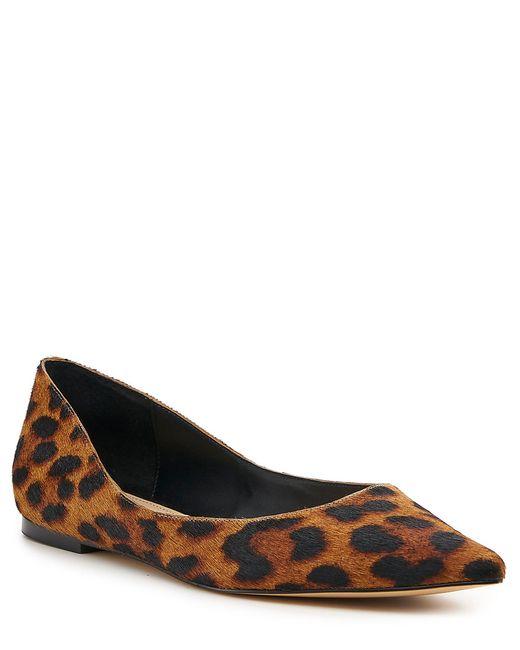 Botkier Brown Annika Leopard Print Calf Hair Flats