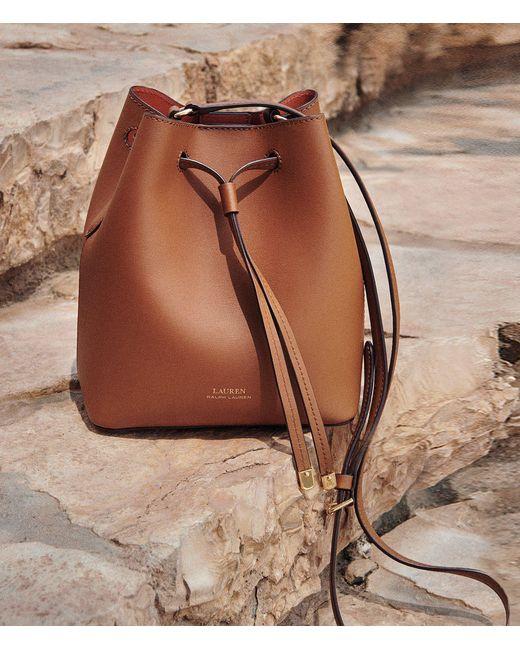 d76a9f5acaf9 ... Lauren by Ralph Lauren - Brown Debby Ii Mini Drawstring Bag - Lyst ...