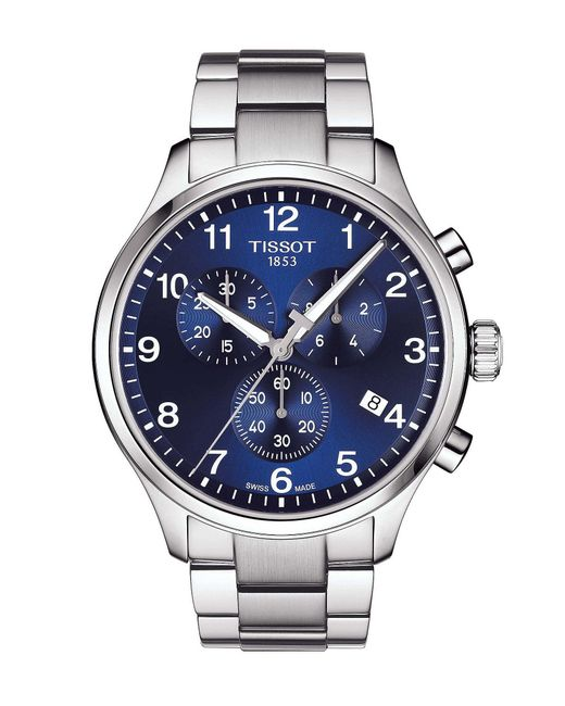 Tissot - Blue Chrono Xl Classic Stainless Steel Bracelet Watch for Men - Lyst