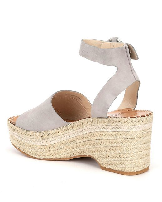4ab432a7256 Lyst - Dolce Vita Lesly Wedge Sandal in Gray - Save 51%
