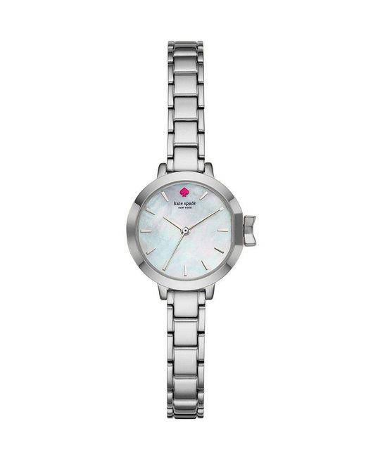 Kate Spade   Metallic Mini Park Row Mother-of-pearl Analog Bracelet Watch   Lyst