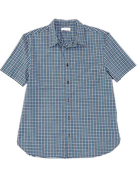 Calvin Klein Black Check Short-sleeve Woven Shirt for men