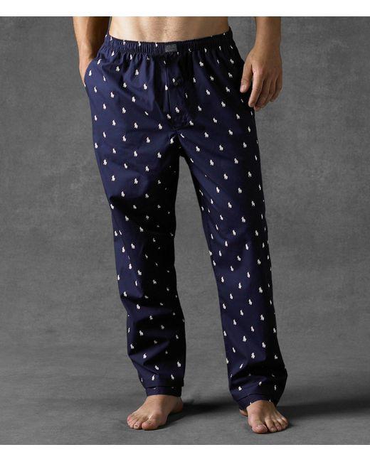 Polo Ralph Lauren - Blue Big & Tall Allover Pony Sleep Pants for Men - Lyst