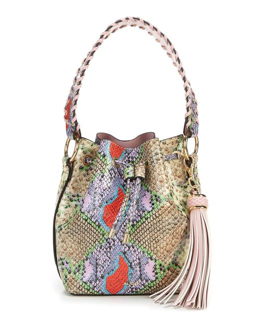 ALDO Multicolor Dororothy Snake Skin Bucket Bag