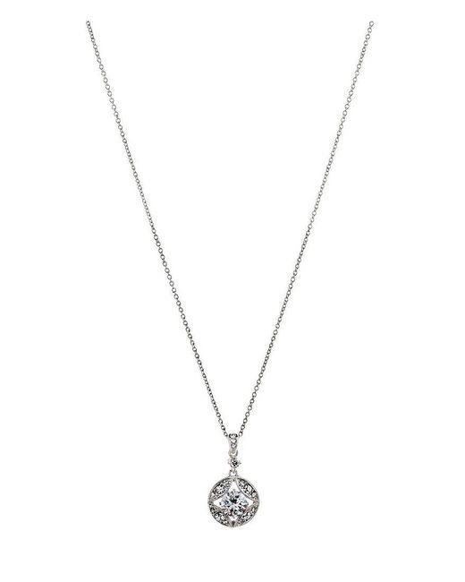 Nadri | Metallic Clear Cubic Zirconia Pendant Necklace | Lyst