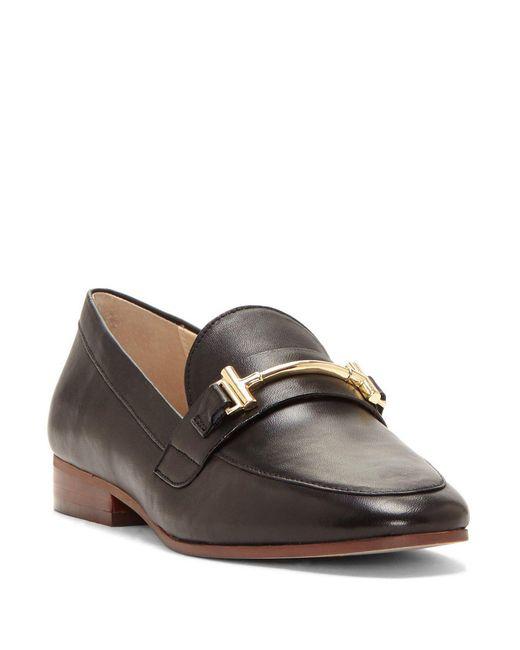 Enzo Angiolini - Black Tatye Leather Block Heel Loafers - Lyst