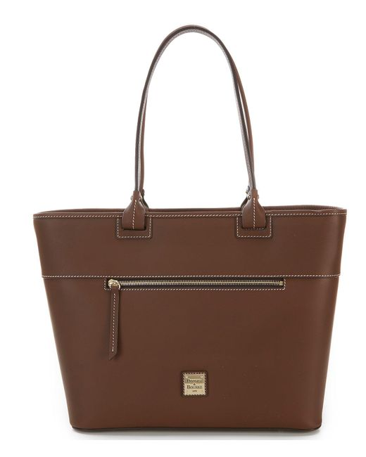 Dooney & Bourke - Brown Beacon Collection Large Zip Tote - Lyst