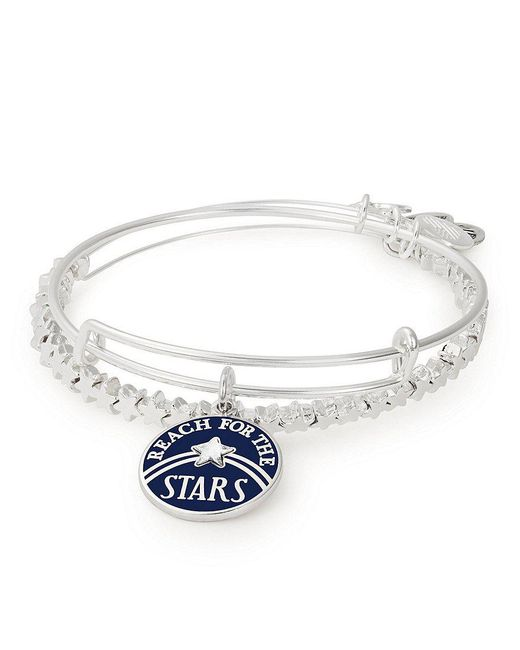 ALEX AND ANI - Metallic Reach For Stars Graduation Charm Bangle - Lyst