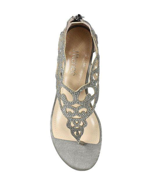 J. Renee Minka Dress Thong Wedge Sandals 7JzcYdNBxI