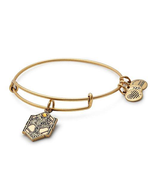 ALEX AND ANI - Metallic Tree Of Life Charm Bangle Bracelet - Lyst