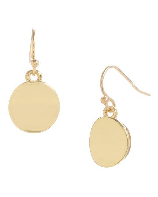 Kenneth Cole - Metallic Circle Drop Earrings - Lyst